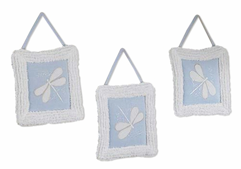 Dragonfly Dreams Blue Wall Hanging Art Decor 3 Piece Set - Click to enlarge