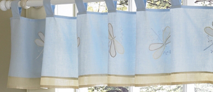 Dragonfly Dreams Blue Window Valance - Click to enlarge
