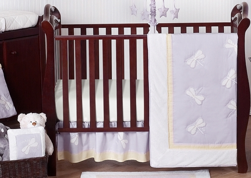 Dragonfly Dreams Lavender Baby Bedding 11pc Crib Set