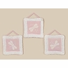 Dragonfly Dreams Pink Wall Hanging Art Decor 3 Piece Set