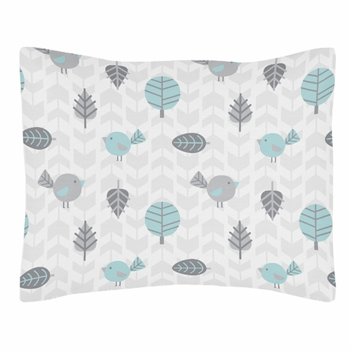 Standard Pillow Sham for Earth and Sky Bedding by Sweet Jojo Designs - Click to enlarge