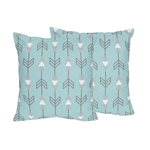 Earth and Sky Arrow Print Decorative Accent Throw Pillows - Set of 2