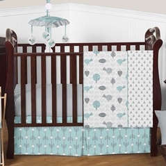 Earth and Sky Baby Bedding - 4pc Crib Set by Sweet Jojo Designs