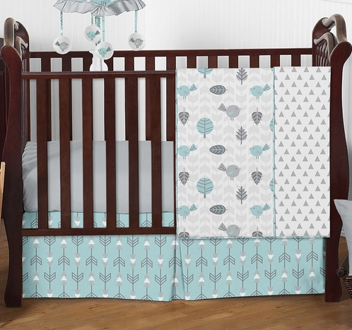 Earth and Sky Baby Bedding - 4pc Crib Set by Sweet Jojo Designs - Click to enlarge