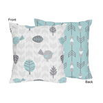 Earth and Sky Decorative Accent Throw Pillow by Sweet Jojo Designs