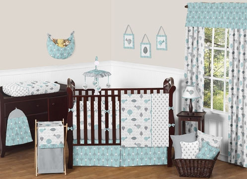 Earth and Sky Baby Bedding - 9pc Crib Set by Sweet Jojo Designs - Click to enlarge