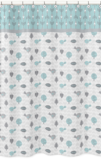 Earth and Sky Kids Bathroom Fabric Bath Shower Curtain by Sweet Jojo Designs only $39.99