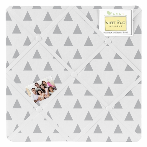 Earth and Sky Triangle Print Fabric Memory/Memo Photo Bulletin Board by Sweet Jojo Designs - Click to enlarge