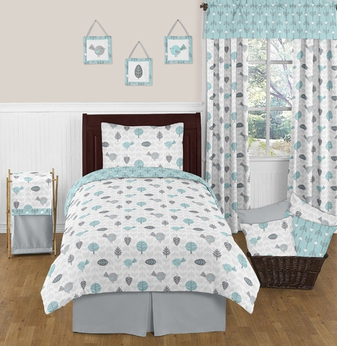 Earth and Sky 4pc Twin Bedding Set by Sweet Jojo Designs - Click to enlarge