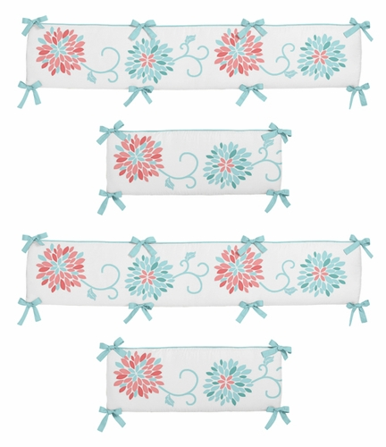 Emma Collection Crib Bumper by Sweet Jojo Designs - Click to enlarge