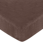 Ethan Modern Fitted Crib Sheet for Baby and Toddler Bedding Sets by Sweet Jojo Designs - Brown Microsuede