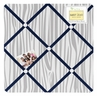 Fabric Memory/Memo Photo Bulletin Board for Navy, Mint and Grey Woodsy Collection by Sweet Jojo Designs