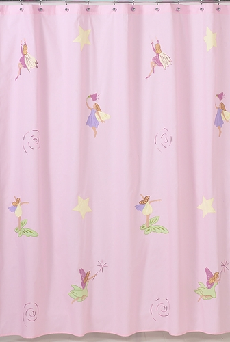 Fairy Tale Fairies Kids Bathroom Fabric Bath Shower Curtain - Click to enlarge