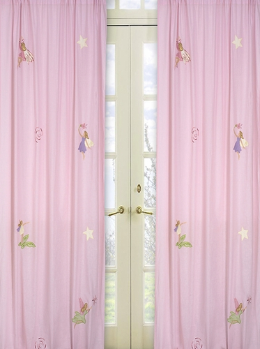 Fairy Tale Fairies Window Treatment Panels - Set of 2 - Click to enlarge