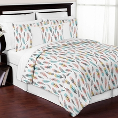 Feather 3pc Girl Full / Queen Bedding Set by Sweet Jojo Designs