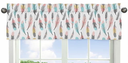 Feather Collection Window Valance by Sweet Jojo Designs - Click to enlarge