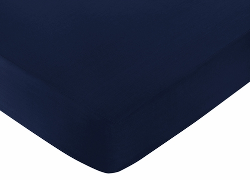 Fitted Crib Sheet for Anchors Away Baby/Toddler Bedding by Sweet Jojo Designs - Navy - Click to enlarge