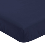 Fitted Crib Sheet for Arrow Baby/Toddler Bedding by Sweet Jojo Designs - Navy Blue