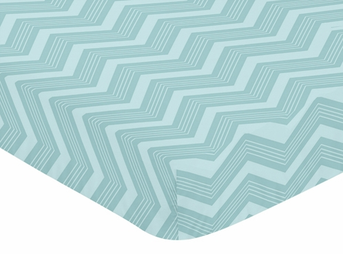 Fitted Crib Sheet for Balloon Buddies Baby/Toddler Bedding by Sweet Jojo Designs - Chevron Print - Click to enlarge