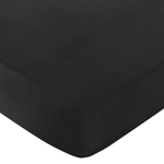Fitted Crib Sheet for Black and White Chevron Baby/Toddler Bedding by Sweet Jojo Designs - Black