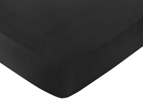 Fitted Crib Sheet for Black and White Chevron Baby/Toddler Bedding by Sweet Jojo Designs - Black - Click to enlarge