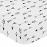 Fitted Crib Sheet for Black and White Fox Collection Baby/Toddler Bedding by Sweet Jojo Designs - Arrow Print
