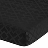 Fitted Crib Sheet for Black Diamond Jacquard Modern Baby/Toddler Bedding by Sweet Jojo Designs - Jacquard