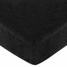 Fitted Crib Sheet for Black Minky Dot Baby/Toddler Bedding by Sweet Jojo Designs - Black Microsuede