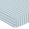 Fitted Crib Sheet for Blue and Green Argyle Baby and Toddler Bedding by Sweet Jojo Designs - Stripe