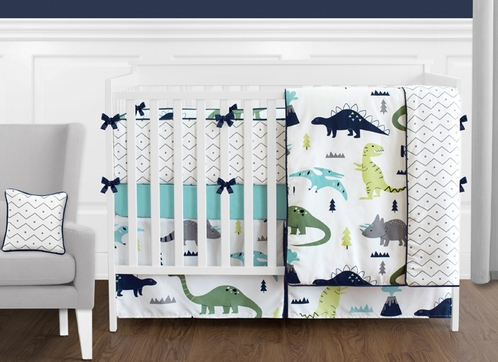 Blue And Green Mod Dinosaur 9 Piece Baby Boy Or Girl