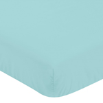 Fitted Crib Sheet for Blue Whale Baby/Toddler Bedding by Sweet Jojo Designs - Turquoise