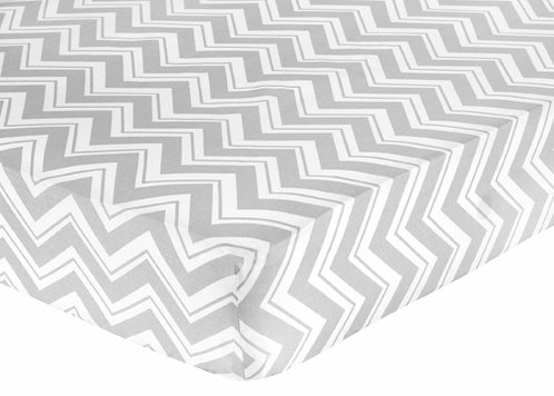 Fitted Crib Sheet for Chevron Baby/Toddler Bedding by Sweet Jojo Designs - Zig Zag Print - Click to enlarge