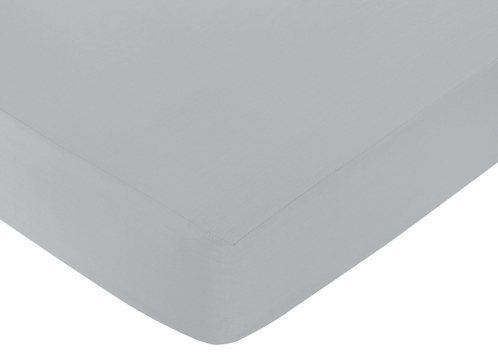 Fitted Crib Sheet for Earth and Sky Baby/Toddler Bedding by Sweet Jojo Designs - Gray - Click to enlarge