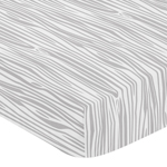 Fitted Crib Sheet for Grey and White Woodland Deer Baby/Toddler Bedding by Sweet Jojo Designs - Wood Grain Print