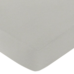 Fitted Crib Sheet for Honey Bee Baby/Toddler Bedding by Sweet Jojo Designs - Gray
