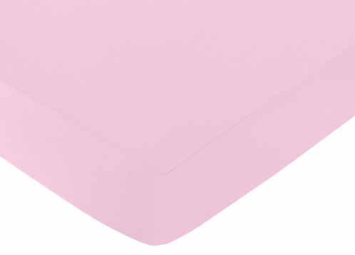 Fitted Crib Sheet for Kenya Baby/Toddler Bedding by Sweet Jojo Designs - Pink - Click to enlarge