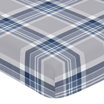Fitted Crib Sheet for Navy and Grey Plaid Baby and Toddler Bedding by Sweet Jojo Designs - Plaid