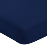 Fitted Crib Sheet for Navy Blue and Gray Stripe Baby/Toddler Bedding by Sweet Jojo Designs - Navy