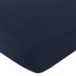 Fitted Crib Sheet for Space Galaxy Baby/Toddler Bedding by Sweet Jojo Designs - Navy Blue