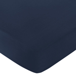 Fitted Crib Sheet for Ocean Blue Baby/Toddler Bedding by Sweet Jojo Designs - Dark Blue