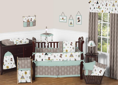 Outdoor Adventure Nature Baby Bedding - 9pc Crib Set by Sweet Jojo Designs - Click to enlarge