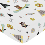 Fitted Crib Sheet for Outdoor Adventure Baby/Toddler Bedding by Sweet Jojo Designs - Adventure Print