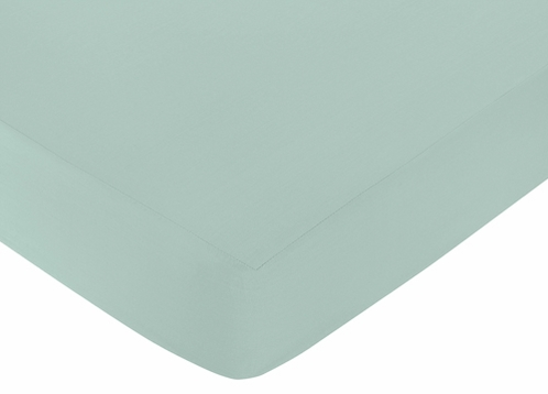 Fitted Crib Sheet for Outdoor Adventure Baby/Toddler Bedding by Sweet Jojo Designs - Aqua Blue - Click to enlarge
