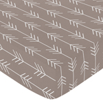 Fitted Crib Sheet for Outdoor Adventure Baby/Toddler Bedding by Sweet Jojo Designs - Arrow Print