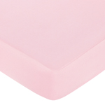Fitted Crib Sheet for Pink and Taupe Elephant Baby/Toddler Bedding by Sweet Jojo Designs - Pink