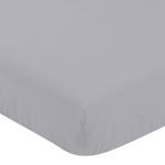 Fitted Crib Sheet for Plaid Baby and Toddler Bedding by Sweet Jojo Designs - Grey