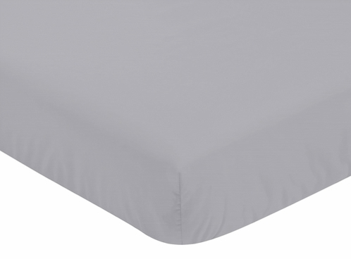 Fitted Crib Sheet for Plaid Baby and Toddler Bedding by Sweet Jojo Designs - Grey - Click to enlarge