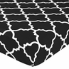 Fitted Crib Sheet for Red and Black Trellis Baby/Toddler Bedding by Sweet Jojo Designs - Trellis Print