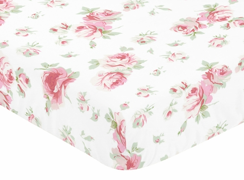 Fitted Crib Sheet for Riley s Roses Baby and Toddler