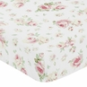 Fitted Crib Sheet for Riley's Roses Baby and Toddler Bedding Sets by Sweet Jojo Designs - Rose Print